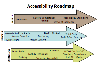 Snapshot of Accessibility Roadmap for a Major Healthcare Provider